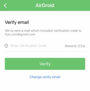 AirDroidコード入力フォーム