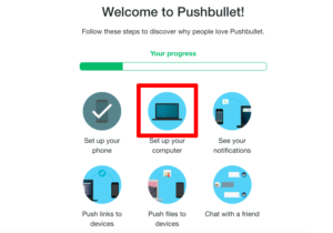 Pushbullet(プッシュバレット)Set up your computer