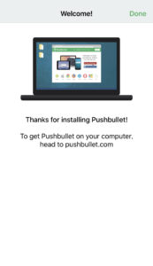 To get pushbullet on your computar, head to pushbullet.com