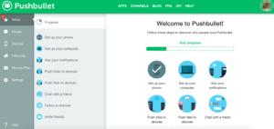 Pushbullet(プッシュバレット)パソコンの管理画面