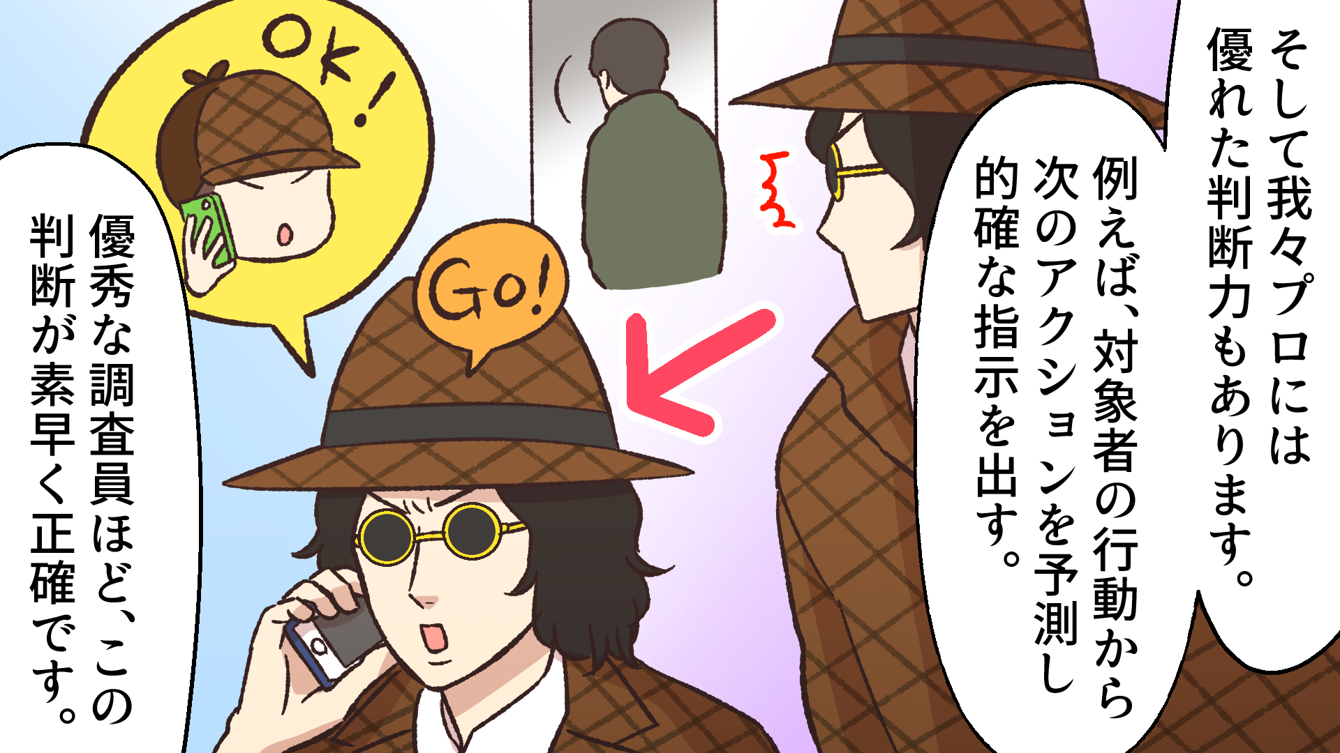 探偵の判断力